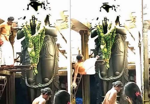 நாமக்கல் ஆஞ்சநேயர் கோயிலில் இறந்த அர்ச்சகர்