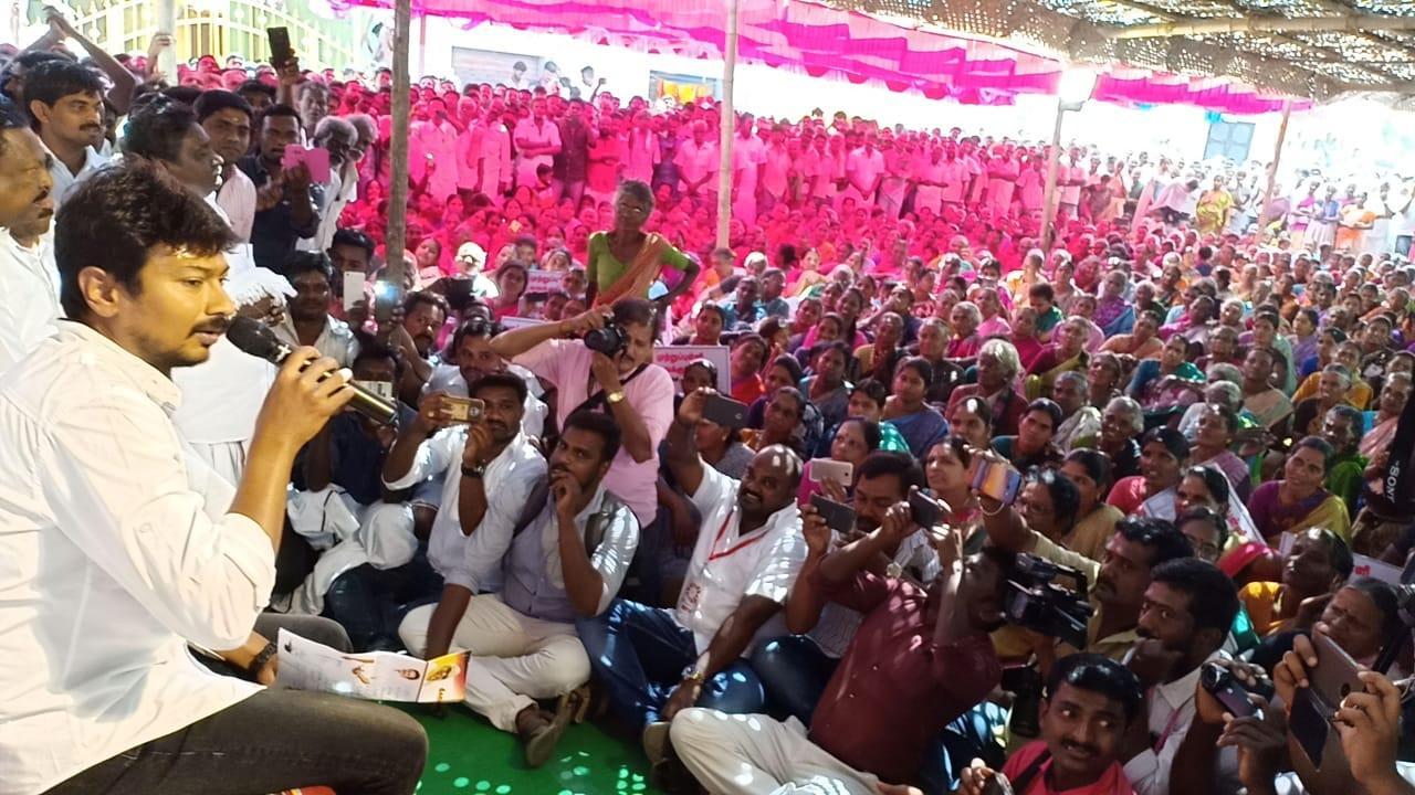 கிராம சபை நடத்திய உதயநிதி