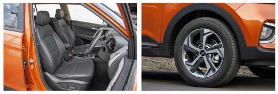 creta seat and alloy wheels