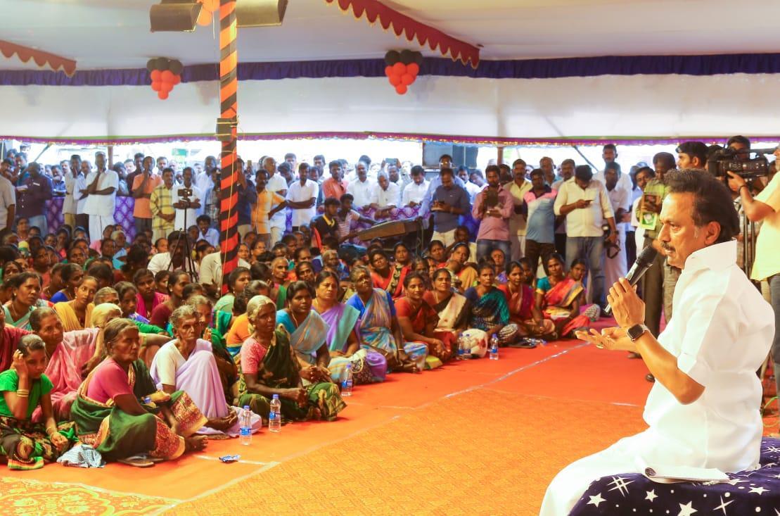 தி.மு.கவின் ஊராட்சி சபைக் கூட்டத்தில் ஸ்டாலின்