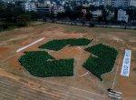 `3,373 பேர் சேர்ந்து உருவாக்கிய ரீ-சைக்கிள் லோகோ!' - சென்னை சிப்பெட் நிறுவனம் கின்னஸ் உலக சாதனை
