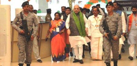 'ஸ்டாலின் மீது அட்டாக்; ஹெச்.ராஜா மாஸ்!' - அமித் ஷாவின் ஈரோடு பரேடு