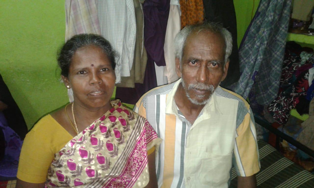 காசநோய் பாதிப்பில் இருந்த மீண்ட கணவருடன் சந்தியா