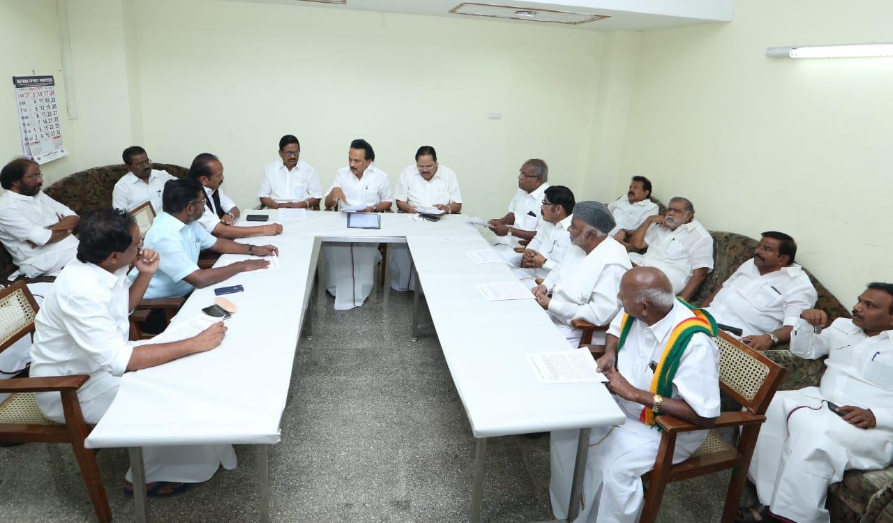 ஸ்டாலின் கூட்டத்தில் கூட்டணிக் கட்சித் தலைவர்கள்