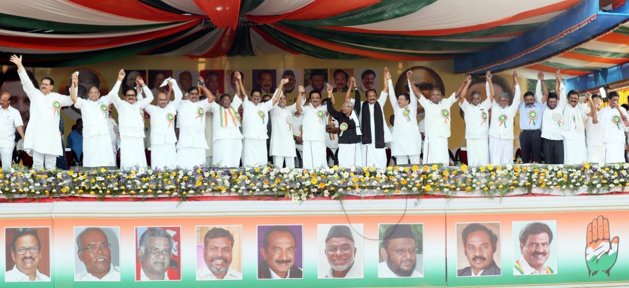 ஸ்டாலின் தலைமையில் கூட்டணிக் கட்சித் தலைவர்கள்