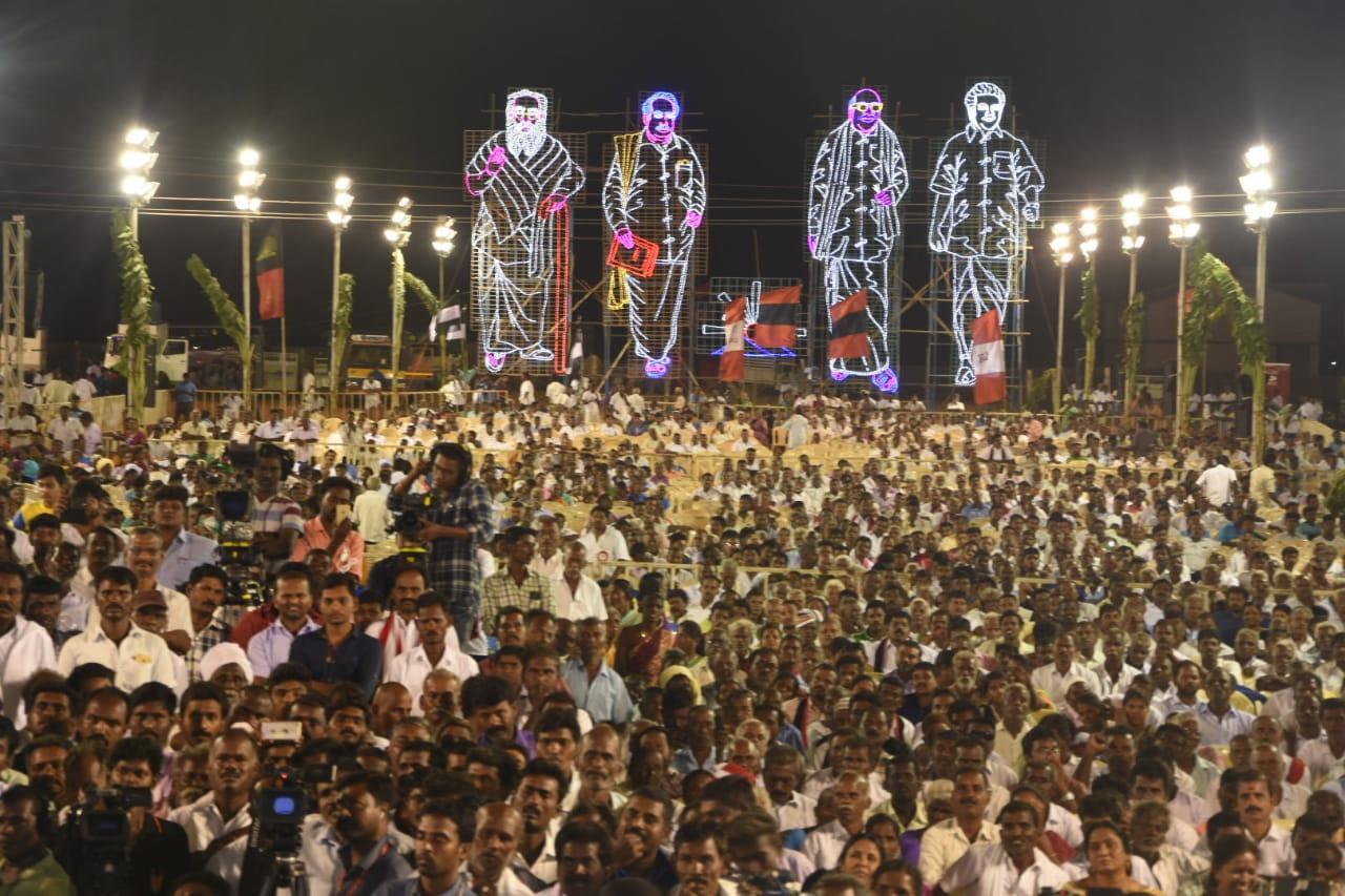 ஸ்டாலின் பிரசார கூட்டத்தில் பங்கேற்றவர்கள்