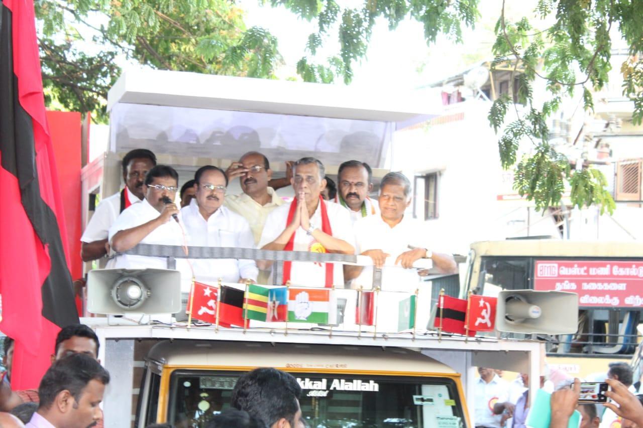 கோவை சி.பி.எம் வேட்பாளர் பி.ஆர்.நடராஜன்