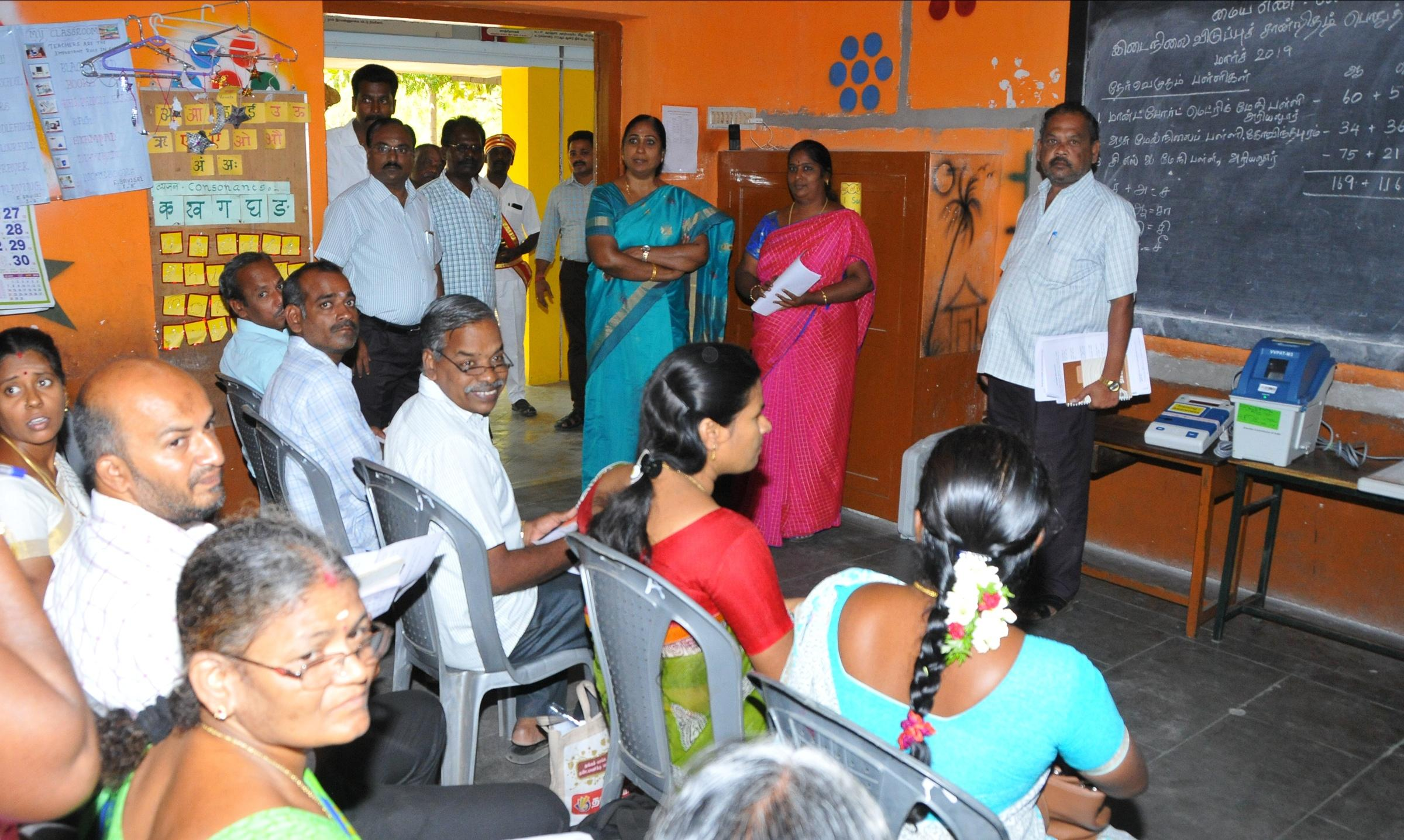 அரியலூர் மாவட்ட ஆட்சியருமான விஜயலட்சுமி பார்வையிடுகிறார்