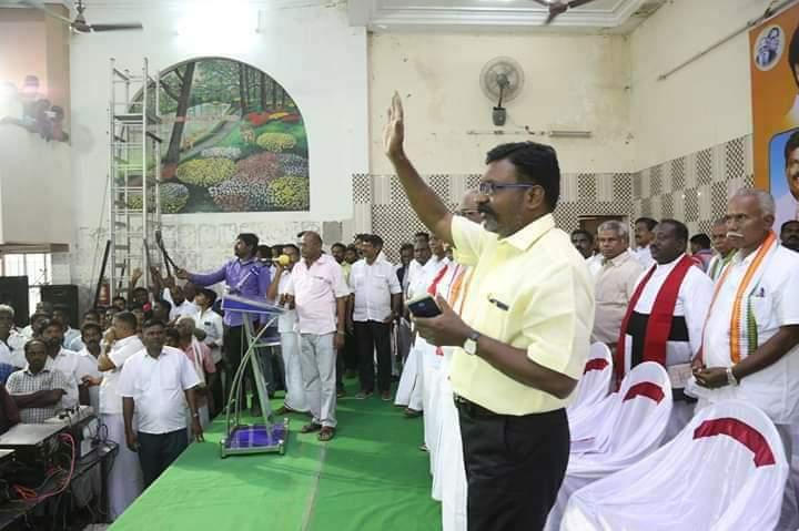 ர் தி.மு.க கூட்டணிக் கட்சி செயல்வீரர்கள் கூட்டத்தில் திருமாவளவன்