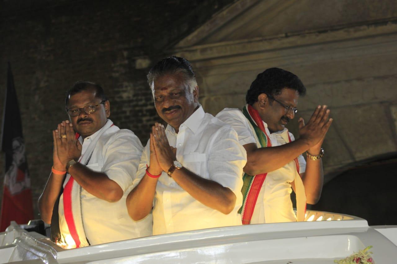 அதிமுக, கூட்டணி கட்சி வேட்பாளர்களுக்கு ஆதரவாக ஓபிஎஸ் பிரசாரம்