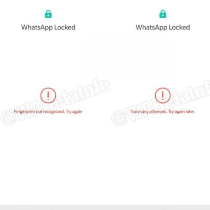 Whatsapp biometric lock