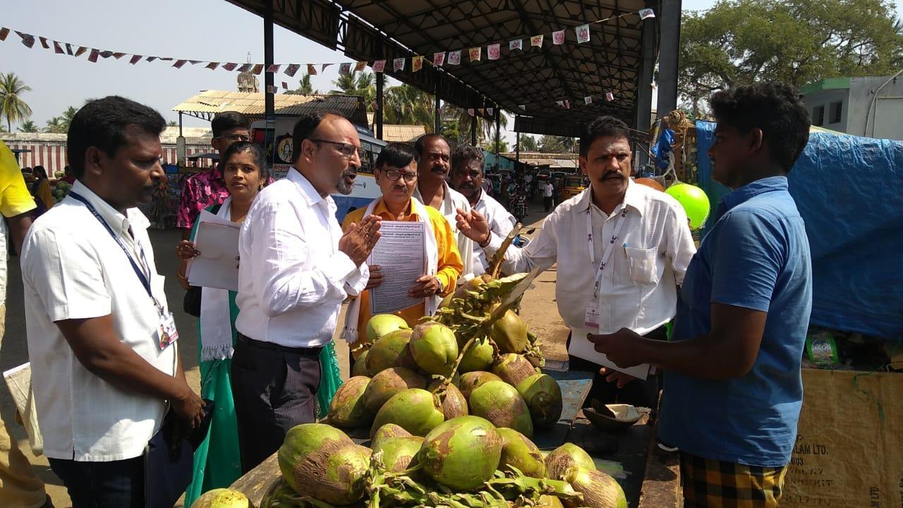 கமல் கட்சி வேட்பாளர் பிரசாரம்