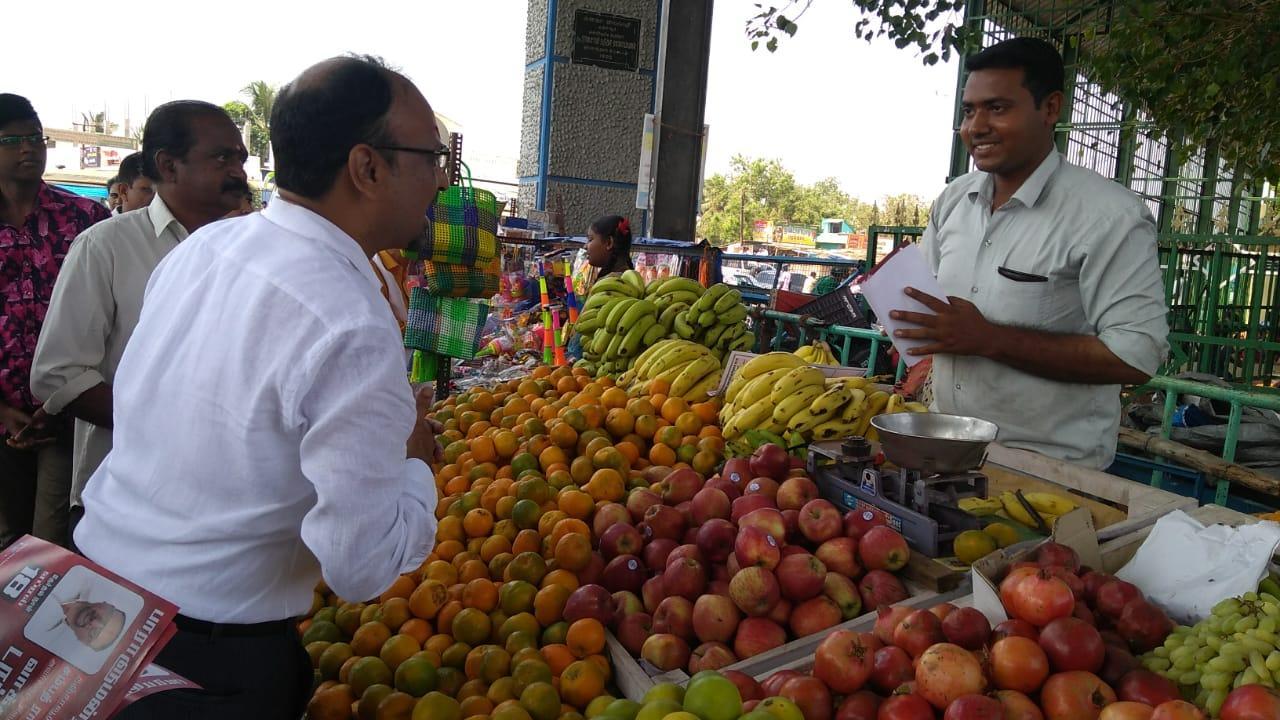 வாக்கு சேகரிக்கும் மக்கள் நீதி மய்யம் வேட்பாளர்