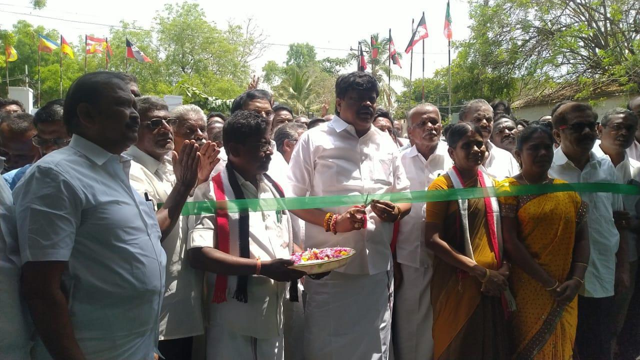 விருதுநகர் மக்களவைத் தேர்தல் அலுவலகத்தை ராஜேந்திரபாலாஜி