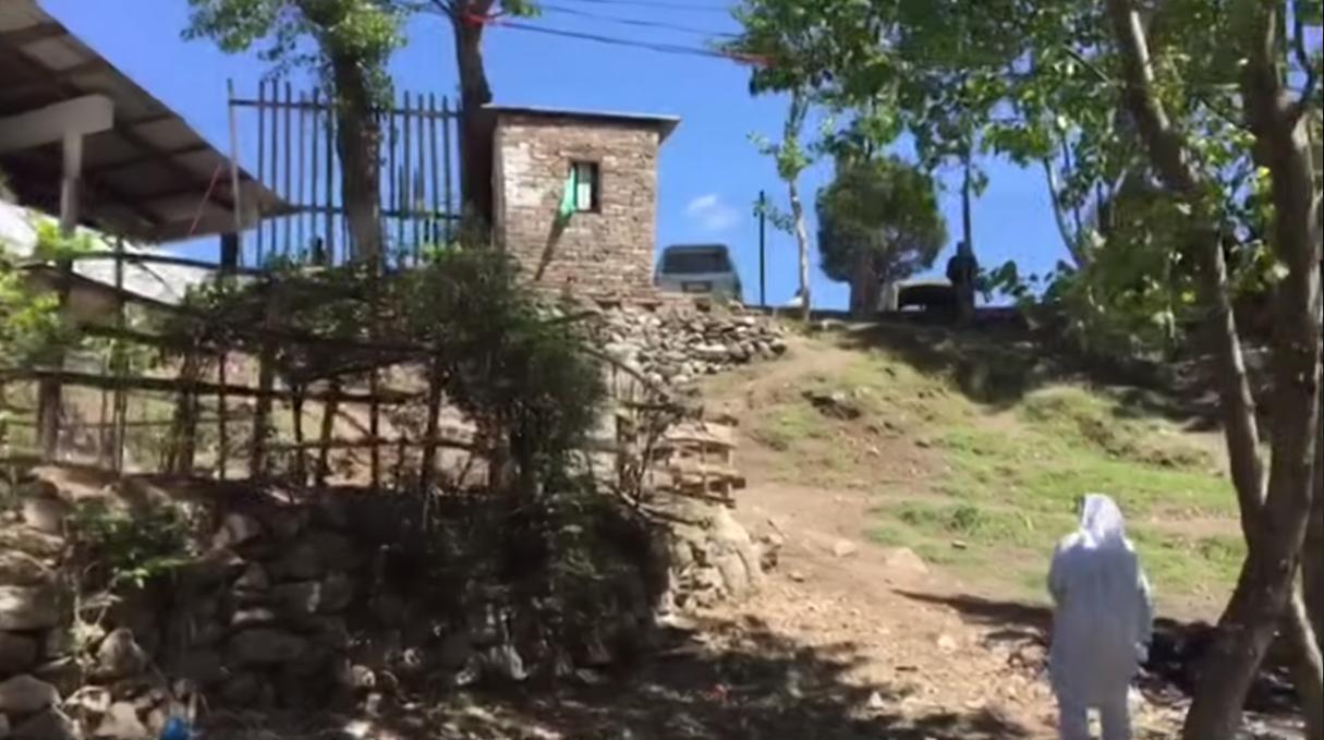 தாக்குதல் நடைபெற்றதாக சில்லப்படும் பகுதி