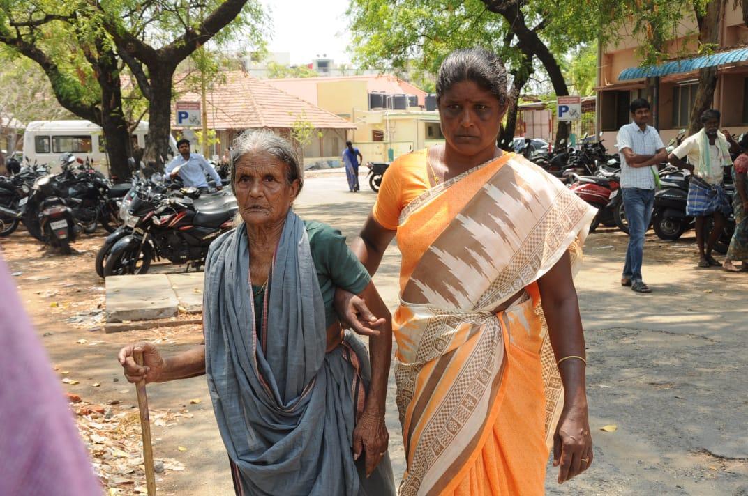 மூதாட்டி புகார்
