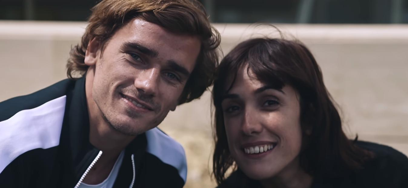 Antoine Griezmann with his sister