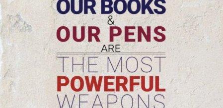 துப்பாக்கியைவிட பெரிய ஆயுதம் புத்தகம்! #WorldBookDay