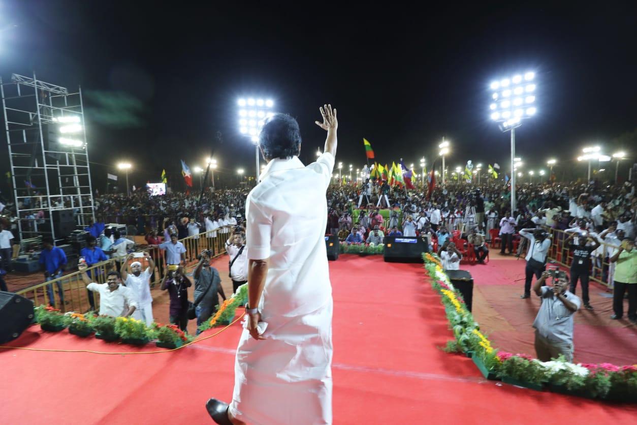 தேர்தல் பிரசாரத்தில் மு.க.ஸ்டாலின்