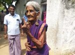 `நல்லவங்களுக்கு ஓட்டுப்போட்டேன்!' - 101 வயது மூதாட்டி அசத்தல் பேட்டி