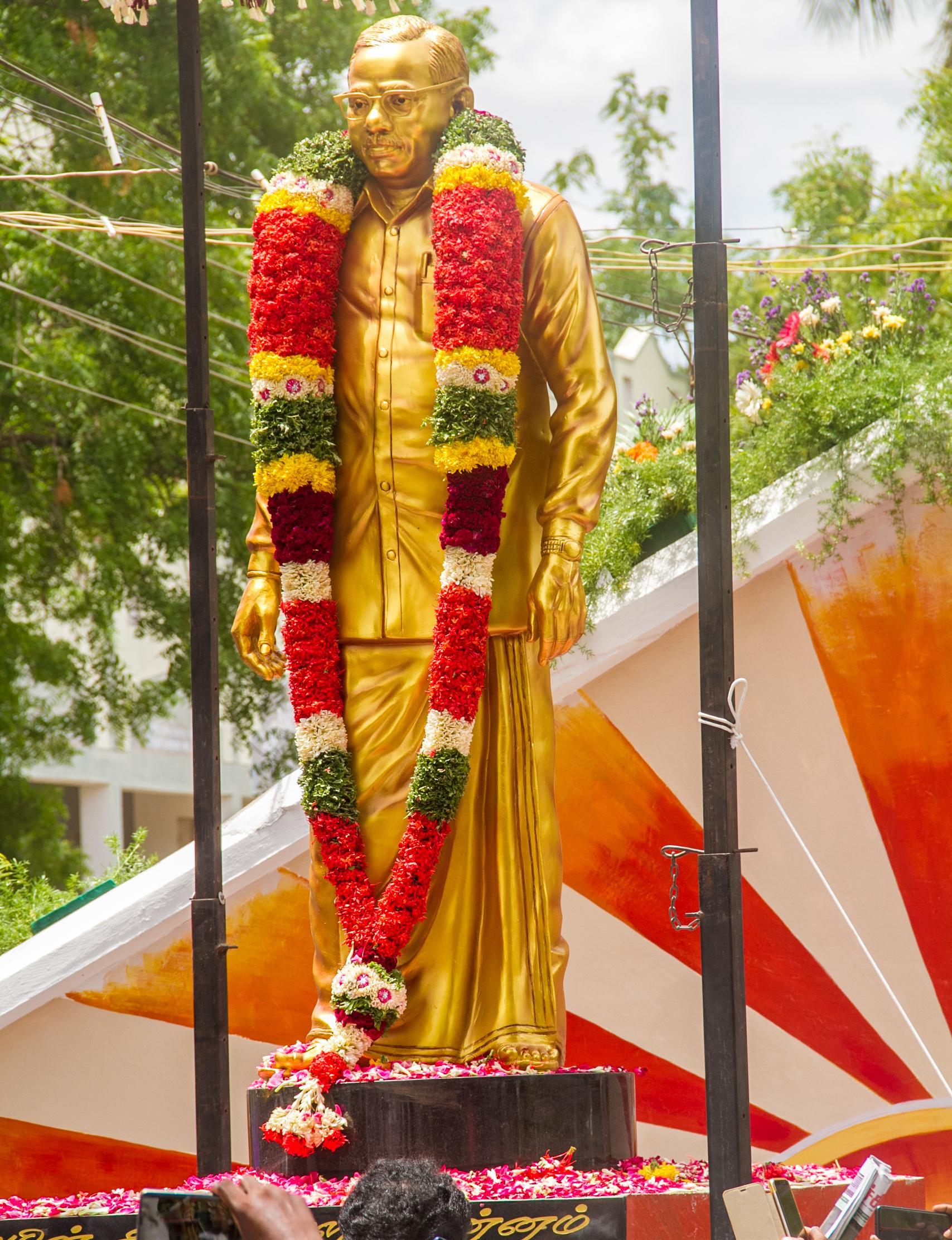 முன்னாள் அமைச்சர் அன்பில் தர்மலிங்கம் சிலை திறப்பு விழா